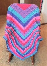 Bubble-gum shawl
