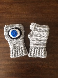Evil Eye Fingerless gloves